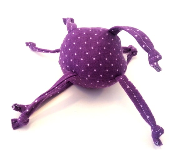Purple Squishy Ball : Items similar to Unique Baby toy - Soft ball with strings -purple with small white dots on Etsy