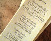 completely custom letterpress wedding invitation design, from scratch suite