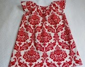 Christmas Made to Order Peasant Dress for Toddler Girls Size 6 Mos through 3T - msliesenfelder