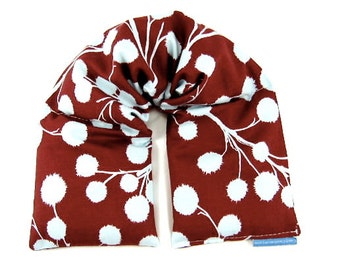 Relaxation Pillow: Heat Wrap, Hot Cold Therapy,Heat Pad, Microwave Pack, Heating Pad, Burgundy, Gift Idea