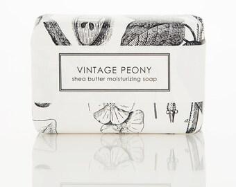 SALE Shea Butter Soap - Vintage Peony - Pretty Floral Blend