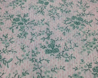 SALE - Sweet Printed Cotton/Poly Blend Fabric - 3 1/2 Yards - Remnant