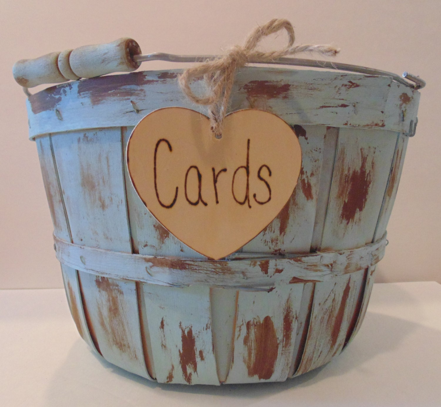 Basket For Wedding Gift Cards : Wedding Card Basket-Card Box-Rustic Card Holder Painted and