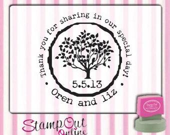 Tree custom stamp return address stamps --2334