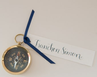 Small Pocket Compass Wedding Favors Without Calligraphy