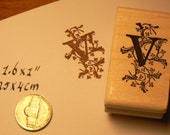 P41 Monogram V, Decorative  Rubber Stamp WM