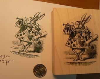 Alice in wonderland rabbit rubber stamp P6