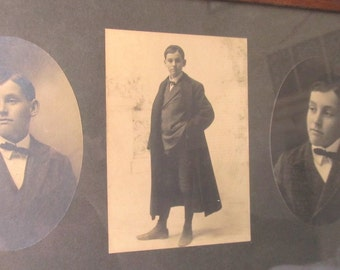 SALE Antique Academic  Boy With Cloak, The Scholar Photo Series Of Three In Oak Frame Was 44.99 Now 39.99