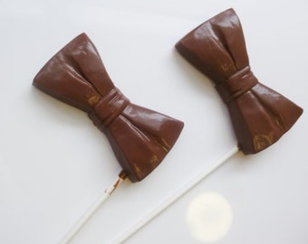 Chocolate Bow Tie Favors
