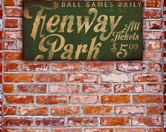 Fenway Park Boston Red Sox baseball club Fenway typography graphic word art on canvas by stephen fowler