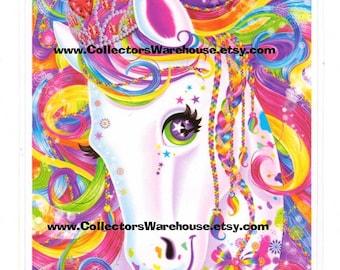 Lisa Frank Large Majesty the Rainbow Horse Sticker