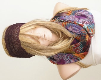 NEW HELEZON Scarf, Chiffon Scarf, Purple and Yellow...Spring Scarf
