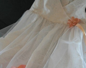 Flower Girl dress with floating petals.