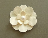 Pure Ivory Flowers - Set of 10 Scrapbook Flowers