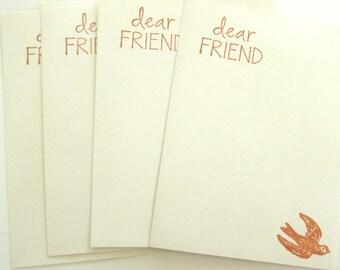 Dear Friend Flat Note Cards - Set of 4