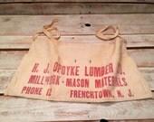 Vintage H.J. Opdyke Lumber Co. Nail Apron