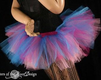 Tutu skirt Adult Glimmer Peek a boo mini dance costume halloween roller derby EDC carnival club run - You Choose size -- Sisters of the Moon