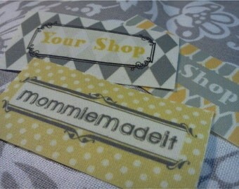 120 Fabric Labels - Sew-On Fabric Labels - Free Customization Using Any Premade Design Shown OR Your Print-Ready Design or Logo