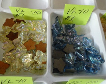 Choose your Leaves Vintage Glass Stones 10 pcs. VL 10