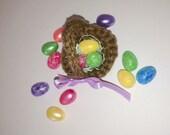 Miniature Easter Eggs for Crochet Basket Bunny, Doll, Barbie, Mini
