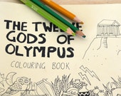 coloring book 12 god of olympus
