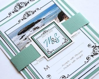 Destination Wedding Invitation and RSVP Wedding Suite - California Coast