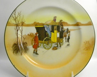 Royal Doulton Series Ware Coaching Days Plate