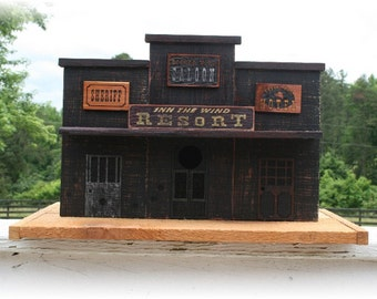 EXCLUSIVE -  replica Olde West town  (Inn the Wind Resort) birdhouse