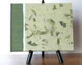Guest Book Lined or Blank 9x7 Sage Mango Leaf - Perfect for Weddings, Open House, B and B, Memorial, Anniversary