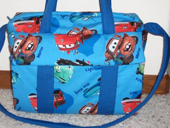 Disney Cars Diaper Bag W Change Pad By EMIJANE