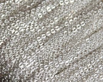 10ft of Silver Plated very Flat Soldered Cable Chain 1.2mm