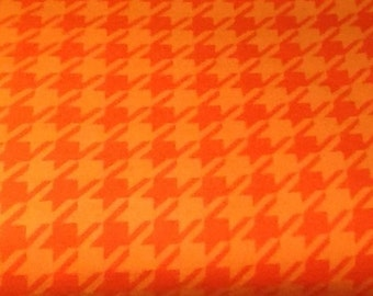 ORANGE HOUNDSTOOTH flannel lounge pants/pajama pants children's sizes 0-3 to size 16.  Contact me for adult sizes small to 3x.
