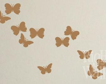 Butterfly Wall Decal, Butterfly Wall Decor, Butterflies Wall Stickers, Kids Wall Decal, Butterfly Art
