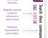 INSTANT DOWNLOAD - LDS Scripture Mastery / Seminary / Scripture Stickers - Purple