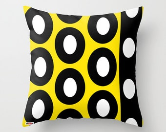 Black and yellow Decorative throw pillow cover - Geometric pillow cover - Modern pillow cover