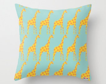 Nursery pillow - giraffes pillow cover - Kids pillow cover - Kids bedding - Nursery decor -  Decorative pillow - Cushion - Children pillow