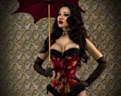Red Silk Corset Custom Made Just for You