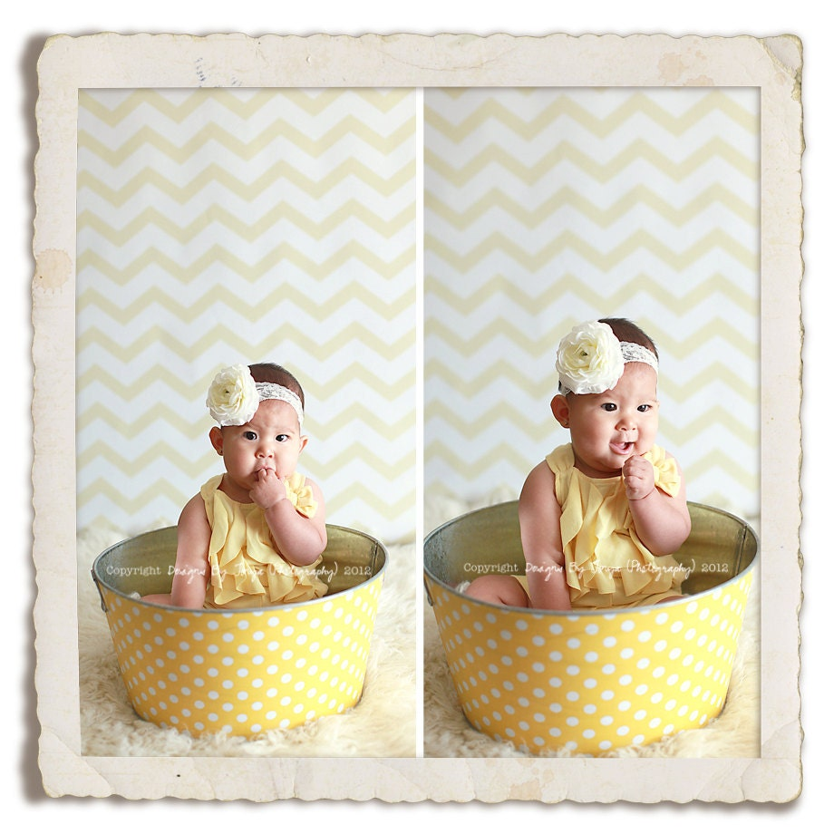 baby prop large round galvanized party tub yellow and white. Black Bedroom Furniture Sets. Home Design Ideas