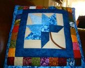 Quillow/Lap quilt - Autumn Splendor - Blue