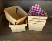 12 wood Berry Baskets Weddings Birthdays Fall favor box Rustic