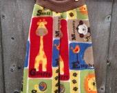 Zoo Animals (Anti-Pill) Fleece Yoga Pants
