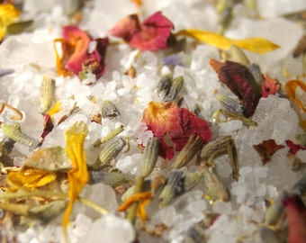 Bath Salts - Flower Garden, Bath Soak, Rejuvenating, Detox Bath, Bath Salts, Bath Gift, Teacher Gift