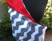 Baby Sling  Baby Carrier - Gray Chevron Red  Lining - Second Item Ships Free