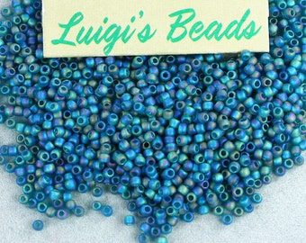 11/0 Round TOHO Glass Seed Beads #167BDF-Trans-Rainbow-Frosted Teal 15g -Use coupon code LUIGIS10 for 10% off
