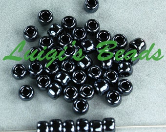 3/0 Round Toho Japanese Glass Seed Beads #81-Metallic Hematite 20g