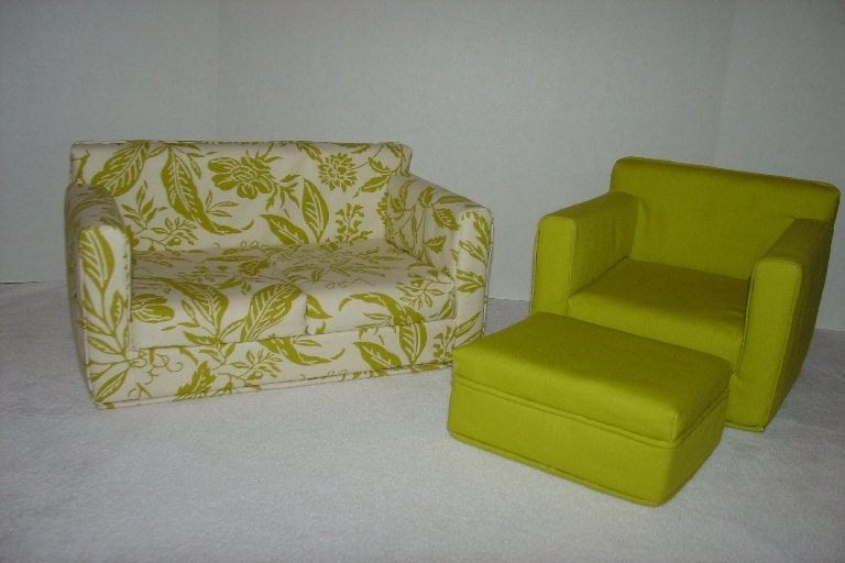 18 Inch Doll Furniture Sofa Chair Ottoman By Majeanscreation