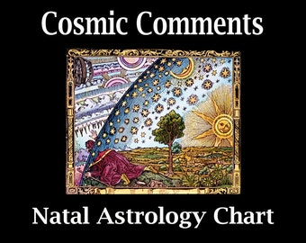 Natal Astrology Chart- The Birth Chart- Hard Copy Option For US Customers