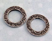 Small Spiral Ring Connector, Antique Silver, 16 MM, TierraCast Pewter 2 Pc. TS74
