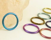 1 Hoop - Colorful Niobium Hypo Allergenic Earring Hoops - 18 gauge 8mm ID - YOU PICK Color