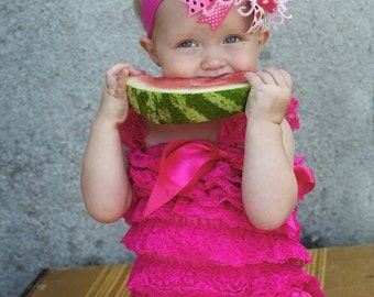 boutique PINK WATERMELON over the top hair bow with headband